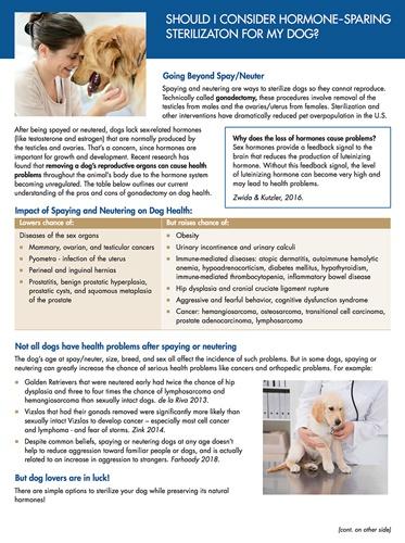 hormone sparing sterilization article